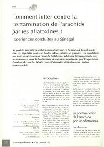 Comment lutter contre la contamination de l 39 arachide par les aflatoxines exp riences - Comment griller des arachides ...