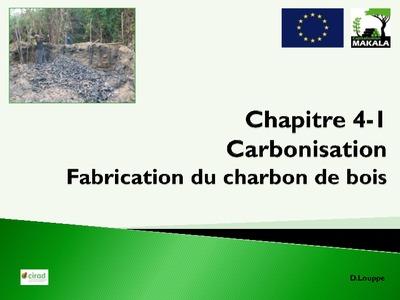 Chapitre 4 1 carbonisation fabrication de charbon de for Fabrication charbon de bois
