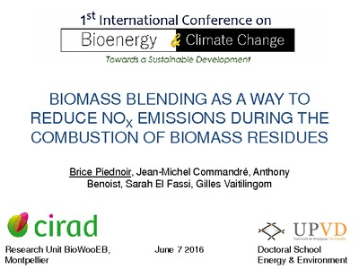 Biomass blending as a way to reduce NOx emissions during the ...