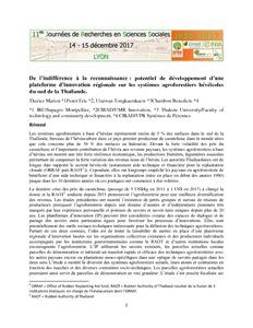 Résultats Pour Sujet E16 Economie De La Production Agritrop